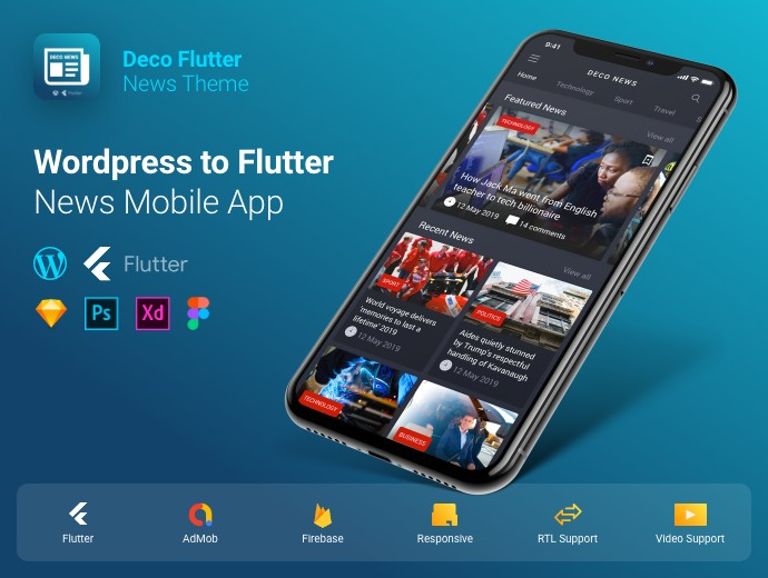 Flutter Deco News App Template