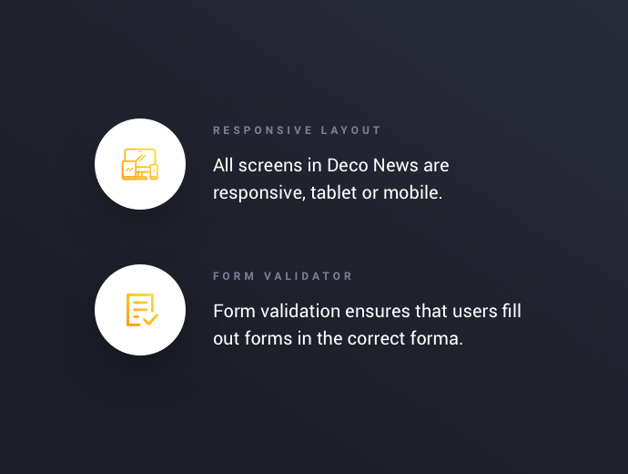 Deco News - Android Mobile App for Wordpress
