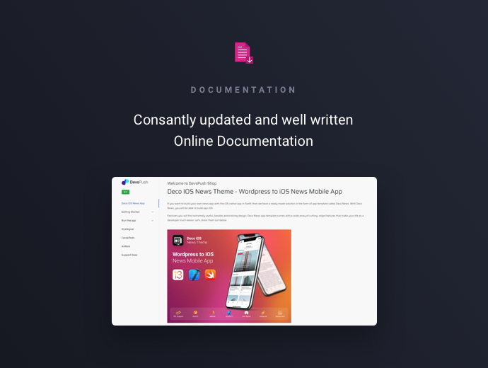 Deco News – iOS Wordpress App Template